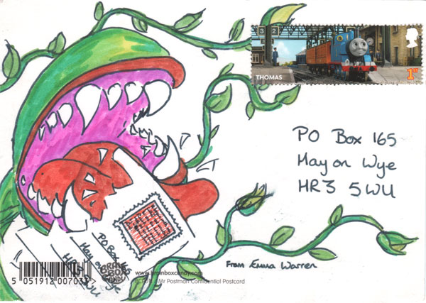 A postcard entry to the competition